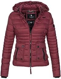 4cc6e9105be3 Navahoo Damen Jacke Steppjacke Übergangsjacke gesteppt Kapuze 11 Farben B602