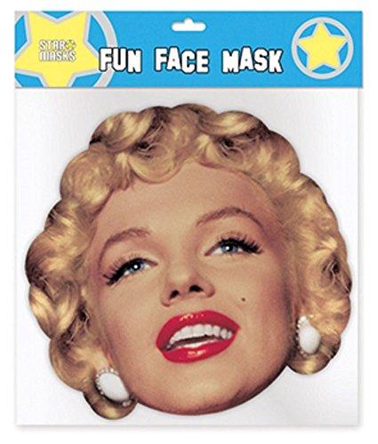 Marilyn Monroe Pappmaske aus hochwertigem Glanzkarton mit Augenlöchern, Gummiband - Größe ca. 30x20 cm (Marilyn Monroe Kostüm Für Kinder)