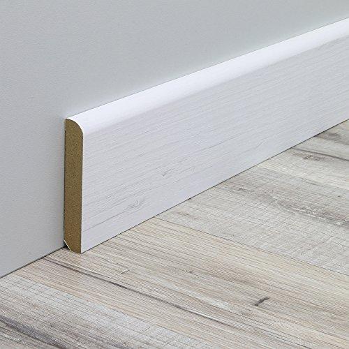 Sockelleiste Fußbodenleiste Standard aus MDF in Pinie Arktis Realpore 2600 x 10 x 60 mm - NEU!