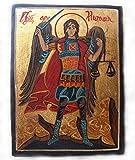 HANDBEMALT Icon Erzengel Michael mit Schwert und Maßstab
