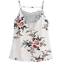 c17c1784f94d Damen Vogue Chiffon Weste,OYSHO Frauen Spitze Weste Top Sleeveless  beiläufige Tank Bluse Sommer Tops