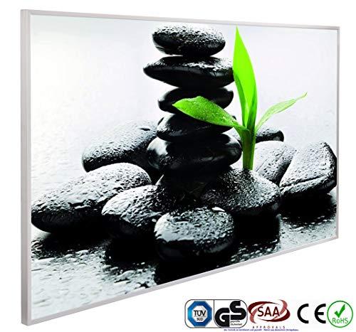 INFRAROT-HEIZUNG 600W-(1034)-Zen Steine-60x100 cm-Bildheizung Heizpaneel Elektroheizung Heizkörper Heizstrahler Heizplatte Strahlungsheizung Flach 5 Jahre Garantie Zertifiziert TÜV GS CE ROHS SAA