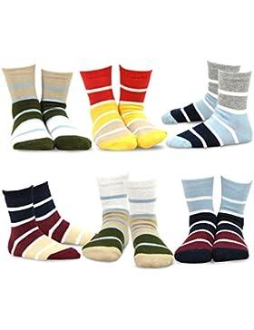 TeeHee Kids Boys Basic Sports Cotton Crew Socks 6 Pair Pack