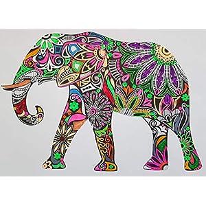 coloriertes vorgezeichnetes Bild