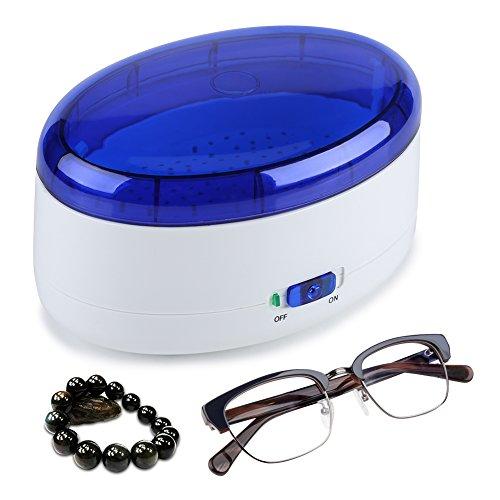 EBTOOLS Ultraschallreiniger, Ultraschall-Reinigungsgerät Ultraschallbad Schmuckreinige rmit Reinigungskorb Digital Ultrasonic Cleaner Reiniger für Brillen Schmuck Uhren, 18 * 13 * 11 cm
