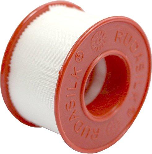 1 x Rolle Rudasilk Pflaster Fixierpflaster aus Kunstseide (2,5 cm x 9,14 Meter)
