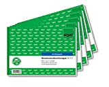 Sigel RA517 / 5 Gastos de Viaje con papel azul, A5 paisaje, 5-pack semanal, 50 hojas