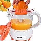 Monzana® Entsafter Saftpresse Zitruspresse elektrische Fruchtpresse Orange 40W 1000ml ✔spülmaschinengeeignet ✔für Orangen Zitronen Limetten Mandarinen Grapefruits