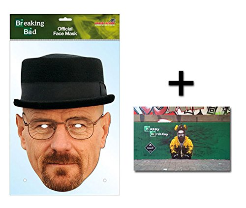 Walter White Heisenberg Official Breaking Bad Single Karte Partei Gesichtsmasken (Maske) Enthält 6X4 (15X10Cm) starfoto