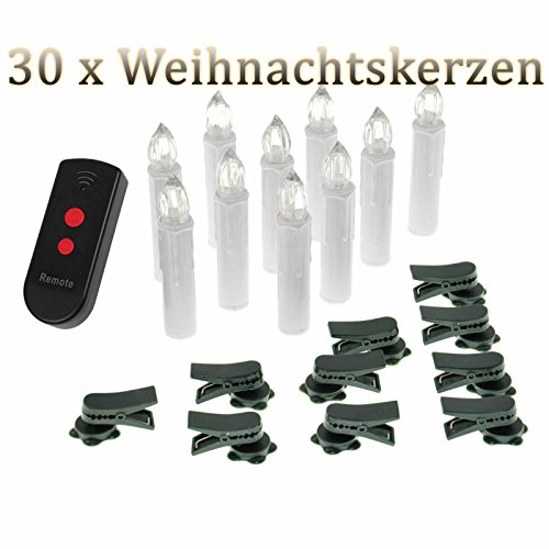 10/20/ 30/40 er Weinachten LED Kerzen Lichterkette Kerzen Weihnachtskerzen Weihnachtsbaum Kerzen mit...