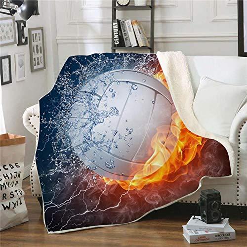 Fgvbwe4r 3d ball sports sherpa coperta velluto peluche coperta in pile copriletto divano divano copripiumino coperta da viaggio, 14,150 * 200
