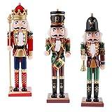 perfk Mehrfarbig Weihnachtsschmuck Holzhandpuppe Soldat Deko Puppet Spielzeug,Dekorative Nussknacker Figuren Ornamente