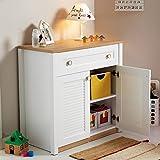 Babyzimmer Kinderzimmer Komplett-Set Weiß Loft Jungen/Mädchen Kinderbett/Abenteuerbett Babybett Wiege Kommode Kleiderschrank (Kommode Holz Weiß)