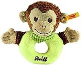 Steiff Jocko Monkey Grip Toy - Brown/Beige/Green by
