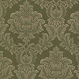 BHF 2601-20802 Oldham Green Damask Wallpaper