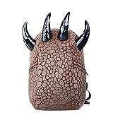 Willsego Student Paw Rucksack personalisierte Leopard Schultertasche Street Rucksack (Farbe : Braun, Größe : -)