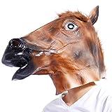 Anladia Pferdemaske fuer Halloween Maske latex Tiermaske Pferdekopf Pferd Kostuem