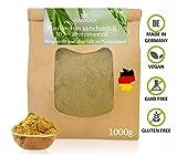 Hanfprotein aus Deutschland 1kg. - 30% Proteinanteil - ohne Zusätze - Hanfmehl zum Backen - Hanfsamenprotein - Vegan - Low Carb - Rohkost