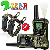 Aikmi Walkie Talkies for Kids 8 Channel 3 KM Long Range Ingenious Communication Gadget Preventing Myopia Toys Best Birthday Gifts for 4-6 year old Boys Fit Outdoor Adventure Game Camping(Green camo)