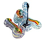 #6: Hippculture Crystal pipe / Hookah / Chillum - 4 inches