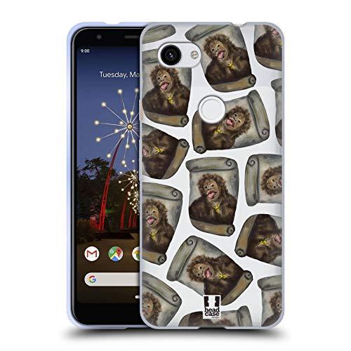 Head Case Designs Kartoffel Chimp Lustige Affen Soft Gel Huelle kompatibel mit Google Pixel 3a