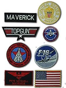 OneKool Top Gun Maverick Set comprenant 7patchs thermocollants et 1 autocollant