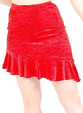 Latin Skirt Velour Black size