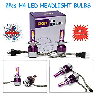 2016 Newest LED Headlight Bulbs All-in-One Conversion Kit - H4 -80W Hi Low Beam LED Light 6000K Diamond White Led Chip Super - 3 Year Warranty
