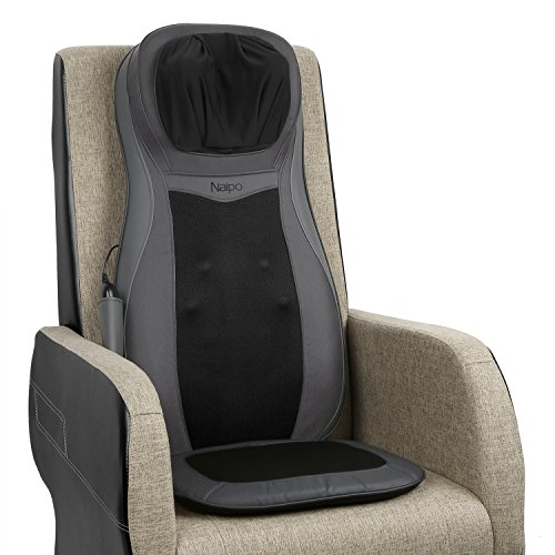 Naipo Shiatsu Neck and Full Back Massage Seat Cushion Body Massage Chair Cushion with Heat Function for Home and Car