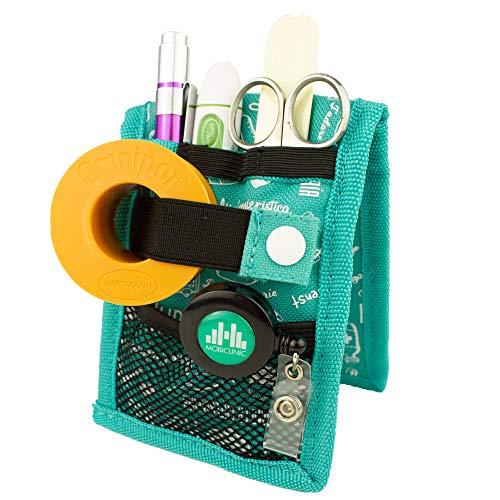 MINIKEEN'S, Salvabolsillos enfermera, Estampado verde, Mobiclinic