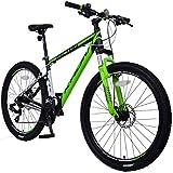 KRON XC-100 Hardtail Aluminium Mountainbike 29 Zoll, 21 Gang Shimano Kettenschaltung mit Scheibenbremse   18 Zoll Rahmen MTB Erwachsenen- und Jugendfahrrad   Schwarz & Grün