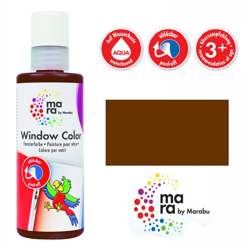 mara by Marabu Window Color, 80 ml, dunkelbraun VE = 1