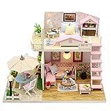 Handgefertigtes Holz Flash Loft DIY Haus Spielzeug Miniatur Puppenhaus Geburtstag Geschenk