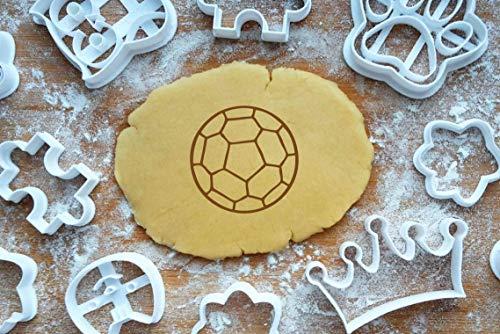 m 5cm Präge-Ausstecher 3D Keksausstecher Fußball Ball Football Cookie Cutter Backen Fondant Plätzchen ()