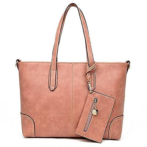 Herbst-Influx Der Europäischen Und Amerikanischen Art- Und Weiseneuen Handtaschen-großen Beutel-einfacher Schulter-Beutel,Pink-OneSize