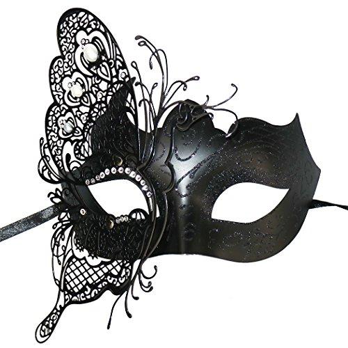 Geheimnisvolle venezianische Schmetterlings-glänzende Schmetterlings-Dame Masquerade ()