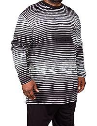 Pijama de tallas grandes, marca Espionage, para hombre con diseño a rayas, 2XL