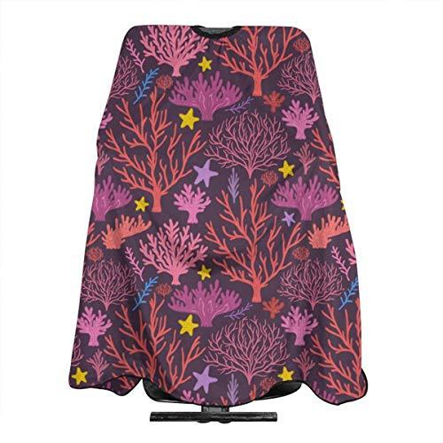Coral and Starfish Professionelle Friseursalon Polyester Haarschnitt Schürze 55