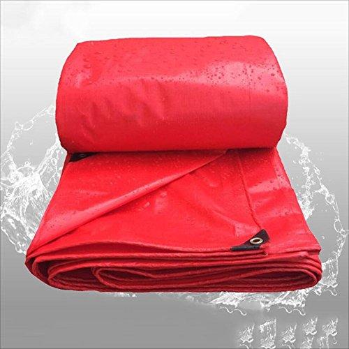 PENGFEI Rot Plane Gewebeplane Wasserdicht Draussen Pflanzen Sonnenschutz Schattierung Ladung Staubdicht Anti-Oxidation, Dicke 0,24 Mm, -260 G/M², 11 Größenoptionen (größe : 4 x 8m)