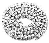 Halukakah  Bling  Männlich Platin überzogen Quadratischer Diamant Kasten Kette Armband 8'(20cm) mit Kostenloser Geschenkpackung