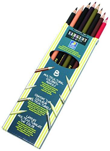 Sargent Art 22-7208Farben von My Friends 8-Count multikulturellen farbigen Bleistift Set (Ticket-ordner)