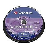 Verbatim 43666 8,5 GB 8x Doppelschicht DVD + R Matt Silber - 10 Pack Spindel