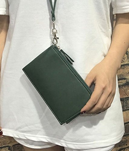 Borsa di lusso delle borse di lusso delle signore della borsa multi della carta di credito con la tasca della chiusura lampo (colore giallo) Grigio