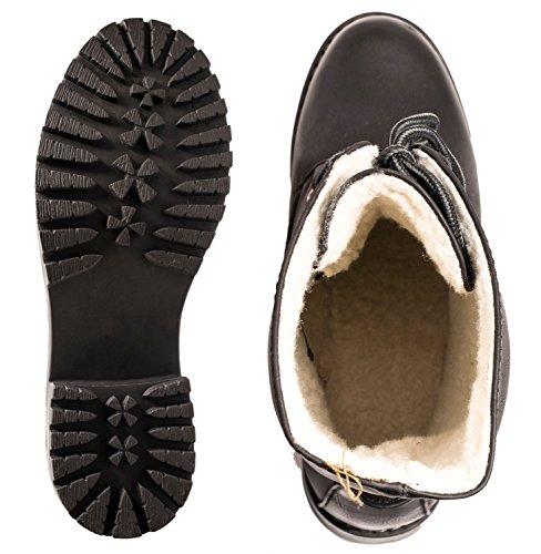 Elara Damen Biker Boots | Gemütliche Worker Stiefeletten | Warm Gefüttert Schwarz