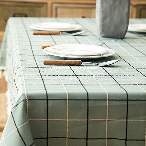 chdecke, mit Fransen, geometrisch, rechteckig, für Picknick, Küche, Terrasse oder Party, grün, 140×220 ()