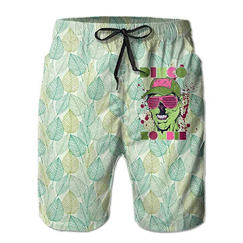 Disco Zombie Pantalones Cortos de Secado Rápido para Hombres Pantalones Cortos Deportivos de Playa...