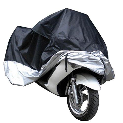 Belüftete Motorrad Abdeckplane Abdeckung Motorradplane Cover Roller Regenschutz, Wetterdicht Wasserdicht Staubdicht Sunblocker 245*105*125cm(L×W×H)