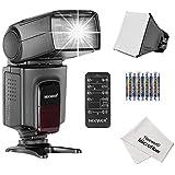 Neewer® Kit Accessoire TT560 Speedlite Flash pour Canon Nikon Olympus Fujifilm et Appareil Photo Numérique avec Fixation de Sabot Kit Comprend 1x TT520 Flash + 1x Diffuseur de Flash Softbox Universel Portable + 1x Télécommande 5-en-1 Multifonction pour Nikon D3200 D3100 D3000 D3300 D5000 D5100 D5200 D5300 D7000 D7100 D200 D300 D600 D610 D700 D750 D800/Canon T3i T4i T5i SL1 60D 70D 5D 6D 7D/Sony A230 A450 A500 A550 A33O A700 A900 + 4x Batteries + 1x Chiffon Microfibre de Nettoyage