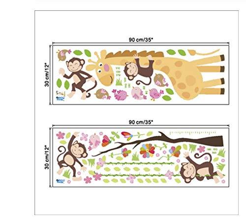 IJSDKOIJG Wandsticker Giraffe Höhenmessung Wandaufkleber Aufkleber Kinder Vinyl Tapete Wandbild Wachstum Zimmer Jungen Mädchen -