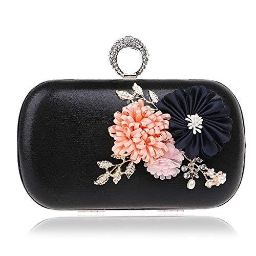YANRR Handtasche Handmade Clutch Einzigen Messenger Tasche Einfache Handgemachte Blume Hand Greifen Umhängetasche
